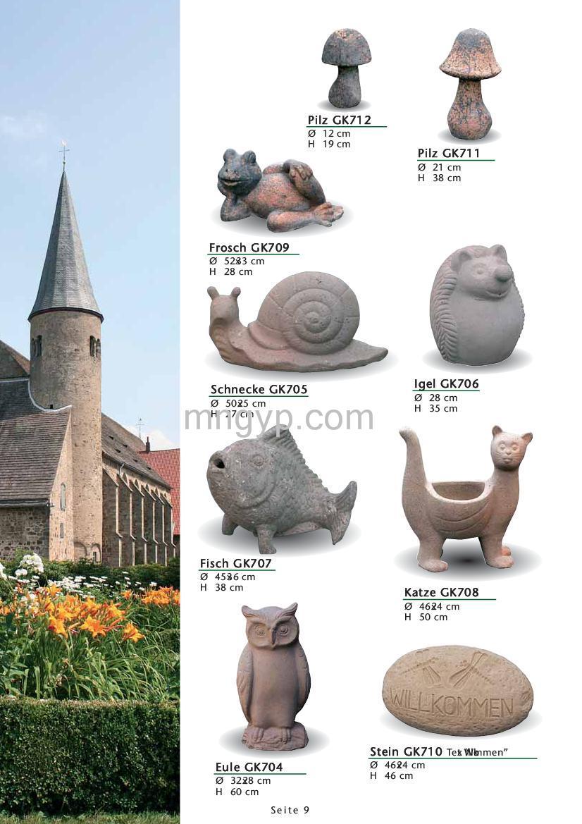 花园陶瓷动物图片_礼品设计