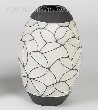 欧式花瓶黑白贴图