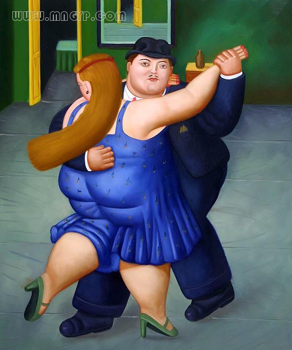 胖女人和胖男人