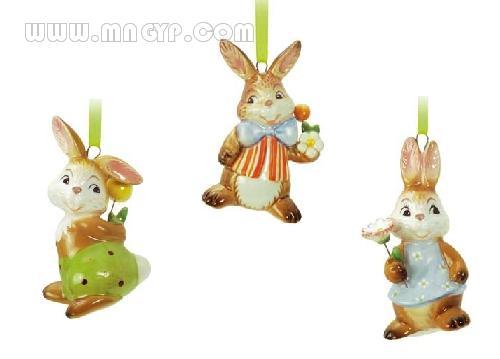 陶瓷兔子_工艺品图片